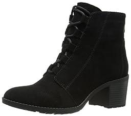Anne Klein Women\'s Kadey Suede Boot, Black, 9 M US