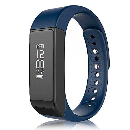Yuntab SmartBand I5 plus - Pulsera inteligente Deporte pulsera de la pulsera/ Perseguidor de la aptitud/ SmartWatch con pantalla táctil OLED y Bluetooth 4.0 para Android y el IOS (Azul)