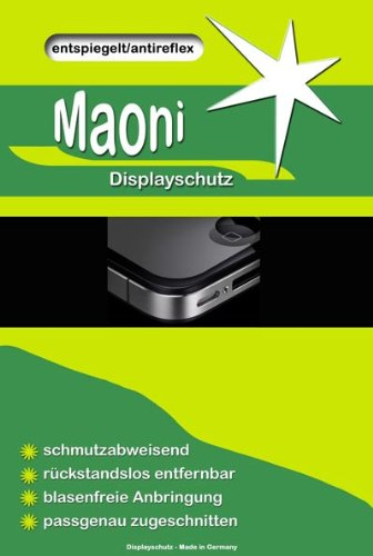 Maoni antireflex Display Schutz Folie (entspiegelt - anti fingerprint) für passend für Sony HDR-SR11 E