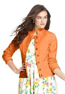 Plus Size Linen Blend Blazer