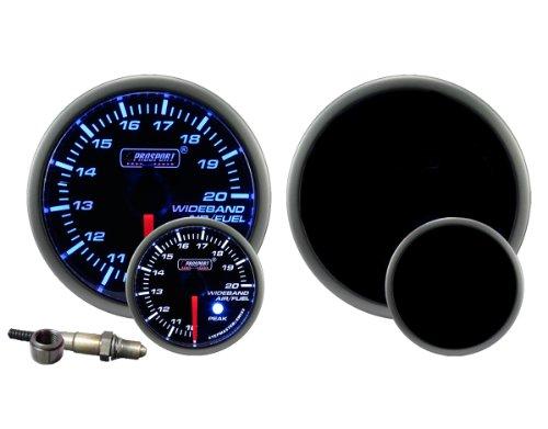 Wideband Air Fuel Ratio Gauge Premium Blue White 52mm (2 1/16