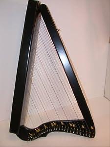 Electric LAP Harp HARPSICLE, FLATSICLE, Black, Made in USA, Rees Harps