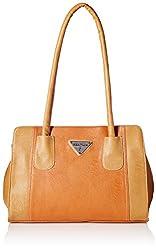 Fantosy Women's handbag (Tan and Beige, FNB-520)