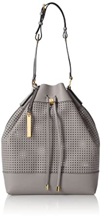 Vince Camuto Colby Drawstring Shoulder Bag,Gray,One Size