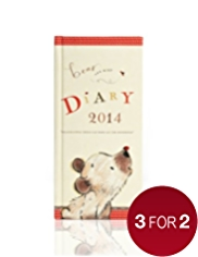 Bear & Bird Slim Week to View 2014 Diary