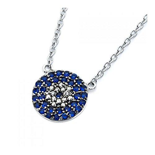 cirlce-sterling-silber-rhodium-beschichtet-blue-klare-zirkonia-halskette