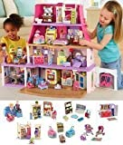Loving Family Dollhouse Super Bonus Set with 6 Rooms of Furniture + Everything For Baby Included (Caucasian Family)