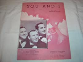 YOU & I THE THREE SUNS 1941 SHEET MUSIC SHEET MUSIC 309