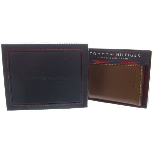 Tommy Hilfiger Mens Leather Credit Card Trifold Wallet and Valet