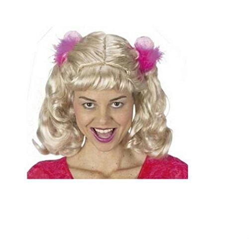 [Popcandy Blonde Big Cheerleader Wig Pig Tails Brittney] (Pig Costume Nose Ears Tail)