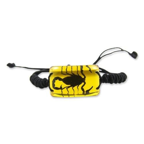REALBUG Black Scorpion Bracelet, Amber