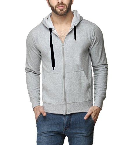 Scott-Mens-Premium-Cotton-Pullover-Hoodie-Sweatshirt-with-Zip-Grey