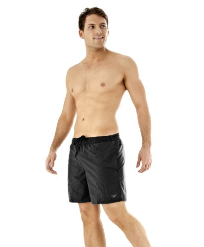 Speedo Men's, Costume da bagno da uomo, Boxer, Nero, M