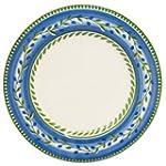Decorative White Blue & Green Olive S...