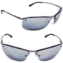 Hot Sale Ray-Ban RB3183 Sunglasses 63 mm, Polarized, Gunmetal/Polarized Smoke