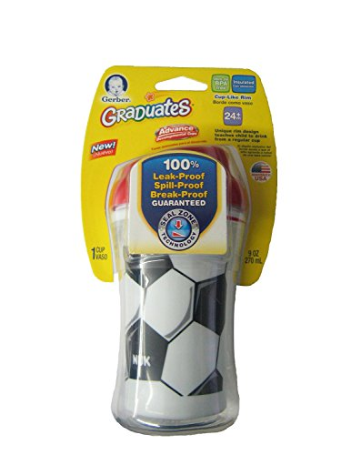 NUK Gerber Graduates Learning System Sports Learning Cup Tumbler, Soccer, 9-Ounce (Discontinued by Manufacturer)