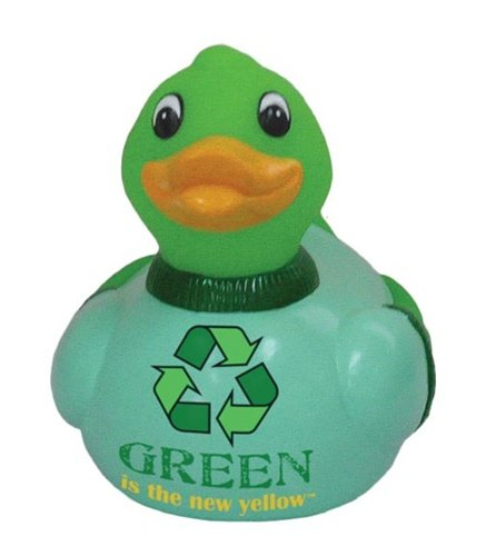 Mr. Green Recycled Rubber Duck: Limited Edition Celebriduck