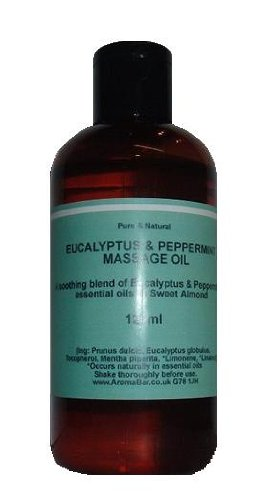 Cold & Flu Massage Bath Oil 125ml with Eucalyptus & Peppermint pure essential oils