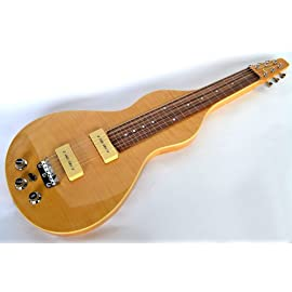 NEW CLEARWATER PRO LAP STEEL II - WEISSENBORN SHAPE LAPSTEEL GUITAR - RIGHT HAND ONLY IN NATURAL FLAME MAPLE FINISH - VERY SPECIAL OFFER!