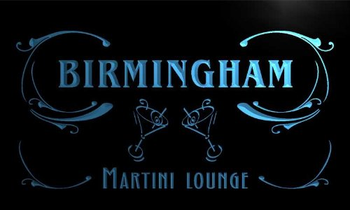 Ti2147-B Birmingham Martini Lounge Bar Beer Cocktails Neon Light Sign