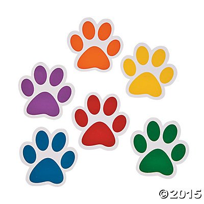 Paw Print Notepads - 24 ct by Party Supplies