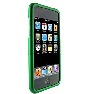 (Green) Mivizu Hard Candy iPod Touch 2nd Gen 3rd Gen hard rubber skin case cover