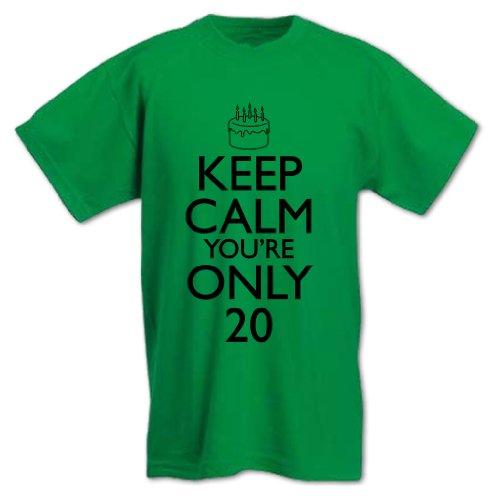 Bang Tidy Clothing Men'S Keep Calm You'Re Only 20 Birthday T-Shirt L Royal Blue