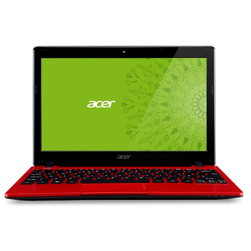Acer 11.6 AO725-0687 Laptop PC with AMD Dual-Core C-70 Processor,Windows 8 Operating System-Red