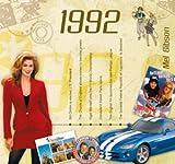 20. Geburtstag Geschenke – 1992 Chart Hits CD und 1992 Geburtstagskarte