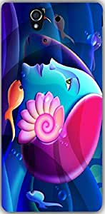 Snoogg Mermaid Head 2879 Case Cover For Sony Xperia L36H