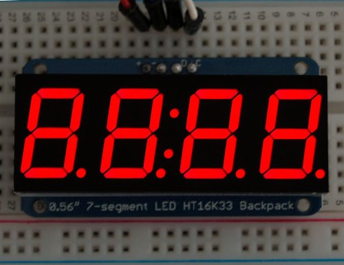 "Adafruit 0.56"" 4-Digit 7-Segment Display W/I2C Backpack - Red"