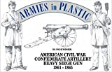 Armies in Plastic Confederate Artillery Crew (5) w/24-Pounder Cannon 1/32 Scale