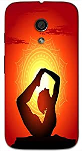 Timpax protective Armor Hard Bumper Back Case Cover. Multicolor printed on 3 Dimensional case with latest & finest graphic design art. Compatible with Motorola Moto -G-2 (2nd Gen )Design No : TDZ-28779