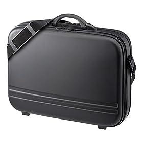 サンワサプライ セミハードPCケースダブル 17.3型ワイド  BAG-716BKN