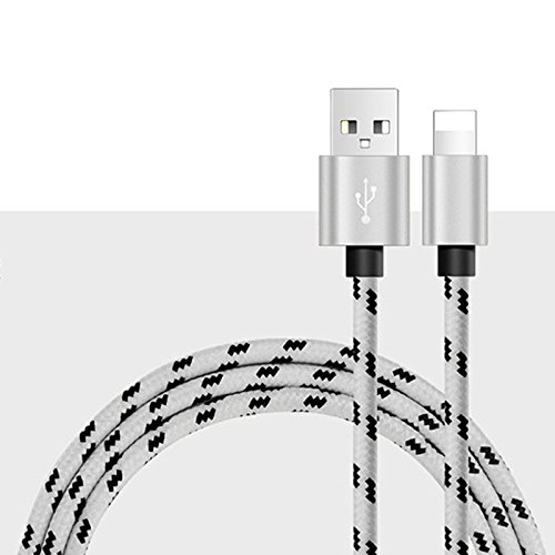 Zhhlinyuan Stable Quality USB Data Cable Nylon Braided Sync Charger fur iPhone 6s/6s Plus, iPad-1/1.5/2M