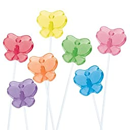 24 Butterfly Twinkle Pops Assorted 7 Flavors