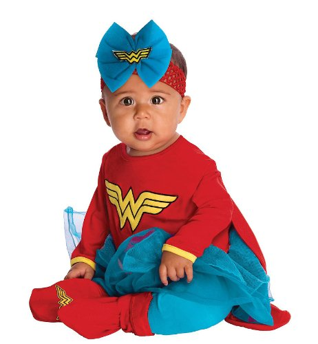DC Comics Baby Wonder Woman Onesie And Headpiece, Red, 6-12 Months