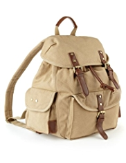 Pure Cotton Canvas Rucksack