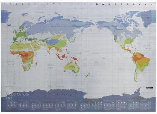 気候帯図カレンダー メタル 2006