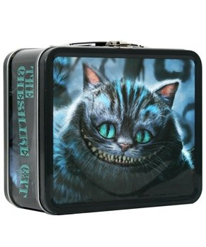 Tim Burton's Alice In Wonderland Disney Movie Cheshire Cat Metal Lunchbox