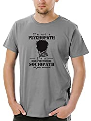 Socratees Mens Grey Cotton Sherlocked T-shirt