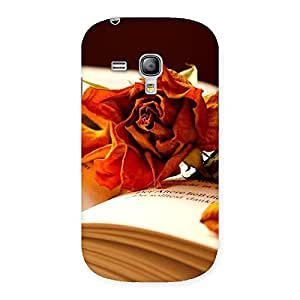 Cute Rose Book Back Case Cover for Galaxy S3 Mini
