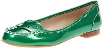 Nine West Women's Eyepopper Flat,Green Synthetic,6.5 M US