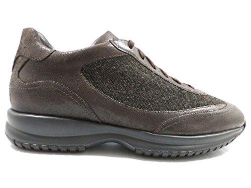 scarpe uomo SANTONI 43 EU sneakers marrone pelle tessuto AZ303