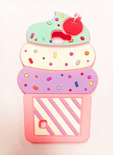 Cute 3D Cherry Ice Cream Silicone Soft Case Bumper Back Cover For smart cell phones (LG Spree Optimus Zone 3 VS425 K4) (Ice Cream Furniture compare prices)