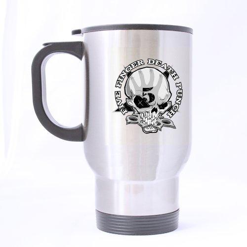 Five Finger Death Punch Generic Cool motivo teschio personalizzata tazza da viaggio tazza Happy Halloween sensibili in acciaio inox Custom Tazza Da Viaggio muging due lati stampa