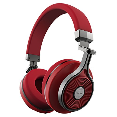 Bluedio T3 (Turbine 3rd) Extra Bass Wireless Bluetooth 4.1 Stereo Headphones(Red)