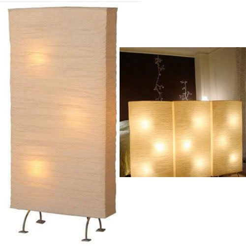 Colored Paper Floor Lamps : Asian rice paper wide and tall floor lamp bulbs included
