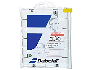 Babolat Pro Team Tacky Thin Tennis Overgrips - Pack of 12