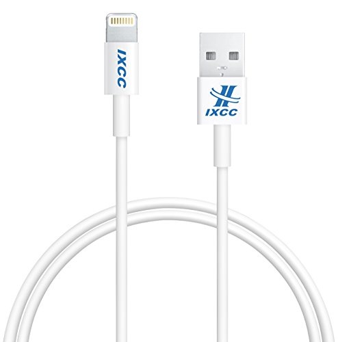 [Apple MFI Certified] iXCC ® Lightning Cable 3ft (3 Ft) Component Collection eight pin to USB SYNC Cable Charger Twine for Apple iPhone five / 5s / 5c / 6 / 6 Plus /6s / 6s Plus, iPod 7, iPad Mini / mini 2/ mini Three, iPad four / iPad Air / iPad Air 2(Suitable with iOS nine) [White]
